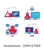 financial technology set icons | Shutterstock .eps vector #1094117969