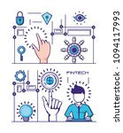 financial technology set icons | Shutterstock .eps vector #1094117993
