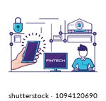 financial technology set icons | Shutterstock .eps vector #1094120690