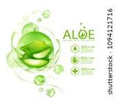 aloe vera collagen serum skin... | Shutterstock .eps vector #1094121716