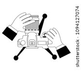 hands with camera photographic... | Shutterstock .eps vector #1094127074
