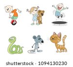 vector illustration of a set of ... | Shutterstock .eps vector #1094130230
