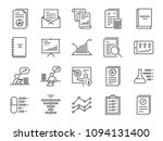 report icon set. included the... | Shutterstock .eps vector #1094131400
