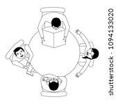 people break time leisure... | Shutterstock .eps vector #1094133020