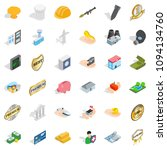 place icons set. isometric... | Shutterstock . vector #1094134760