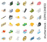 hospital icons set. isometric... | Shutterstock . vector #1094134853