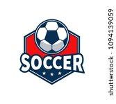 red soccer sport logo vector...   Shutterstock .eps vector #1094139059