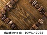 beautiful creative chocolate... | Shutterstock . vector #1094141063