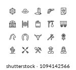 wild west icon set  outline... | Shutterstock .eps vector #1094142566