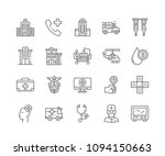 set of hospital outline icons...   Shutterstock .eps vector #1094150663