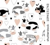 seamless pattern with cute...   Shutterstock .eps vector #1094151743