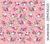 romantic flower print design | Shutterstock .eps vector #1094156123
