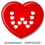 illustration of love heart font ...   Shutterstock .eps vector #109416233