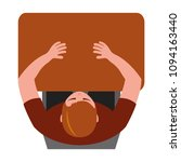 top view young man sitting at... | Shutterstock .eps vector #1094163440