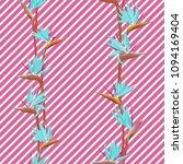 tropical flower bird of... | Shutterstock .eps vector #1094169404