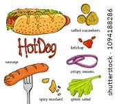 appetizing hot dog and... | Shutterstock .eps vector #1094188286