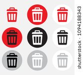 dustbin icon collection with... | Shutterstock .eps vector #1094188343
