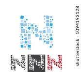 vector letter n alphabet typo... | Shutterstock .eps vector #1094193128