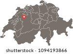 switzerland map vector outline... | Shutterstock .eps vector #1094193866