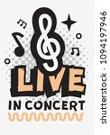 live music in the concert... | Shutterstock .eps vector #1094197946