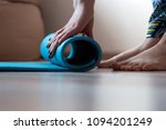 close up woman hands with yoga... | Shutterstock . vector #1094201249