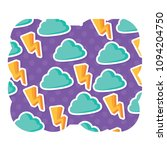 clouds pattern design | Shutterstock .eps vector #1094204750