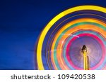 ferris wheel with motion... | Shutterstock . vector #109420538