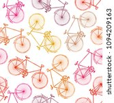 seamless pattern with hand...   Shutterstock .eps vector #1094209163