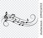 musical design element  music... | Shutterstock .eps vector #1094216513