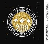 vector class of 2018 badge.... | Shutterstock .eps vector #1094234588