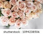 pastel pink roses. bouquet of... | Shutterstock . vector #1094238506