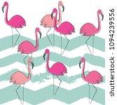 flamingo pattern  vector ... | Shutterstock . vector #1094239556
