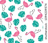 pink flamingos  exotic birds ... | Shutterstock . vector #1094239574