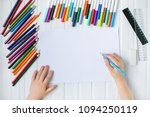 the child's hands are painted... | Shutterstock . vector #1094250119