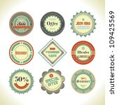 set of retro labels  buttons... | Shutterstock .eps vector #109425569