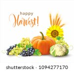 harvesting time composition... | Shutterstock .eps vector #1094277170