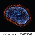 3d illustration. human brain in ... | Shutterstock . vector #1094279549