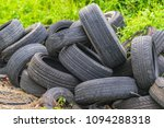 old discarded heap of rubber... | Shutterstock . vector #1094288318