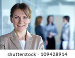 image of pretty business leader ... | Shutterstock . vector #109428914