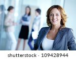 image of pretty business leader ... | Shutterstock . vector #109428944