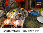 street food with fresh fish and ...   Shutterstock . vector #1094294444