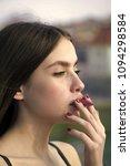 woman face beauty. sensual...   Shutterstock . vector #1094298584