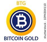 bitcoin gold coin... | Shutterstock .eps vector #1094304110