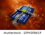 3d illustration credit card...   Shutterstock . vector #1094308619