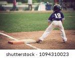 runner on third base in a... | Shutterstock . vector #1094310023