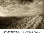panoramic landscape with sunny... | Shutterstock . vector #1094317610