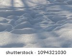 trampled white snow in the... | Shutterstock . vector #1094321030