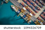 logistics and transportation of ... | Shutterstock . vector #1094326709