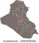 iraq map vector outline... | Shutterstock .eps vector #1094328260