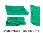 set of green tapes on white...   Shutterstock . vector #1094328716